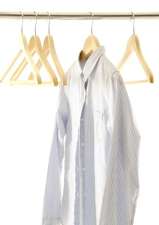View of a shirt on a hanger