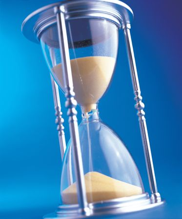 Close-up of an hourglass