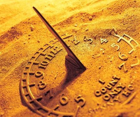 sun dial: Close-up of a sun dial