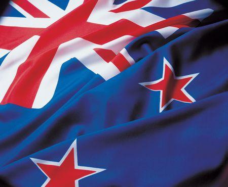 glorification: Close-up of the flag of New Zealand Stock Photo