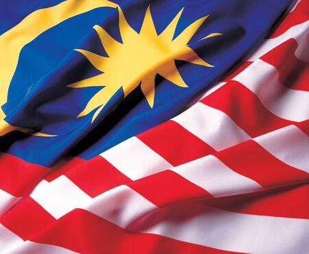 glorification: Close-up of the Malaysian flag