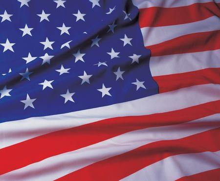 glorification: Close-up of the American flag Stock Photo
