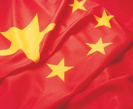glorification: Close-up of the Chinese flag Stock Photo