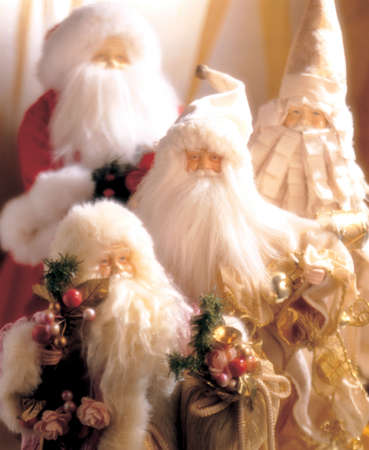Close-up of Santa Christmas decorations photo