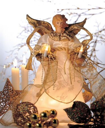 Close-up of an angel Christmas decoration photo