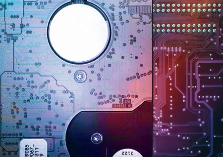 digitally generated: Close-up of a circuit board