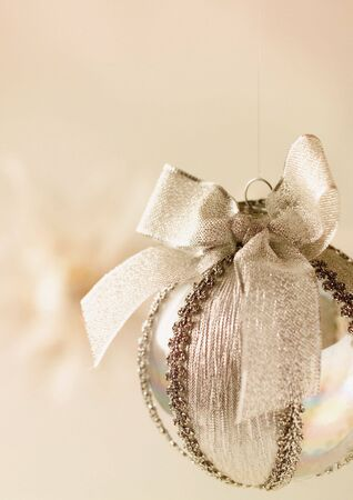 Close-up of a silver Christmas decoration Stock Photo