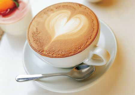 High angle view of a cappuccino Stock Photo