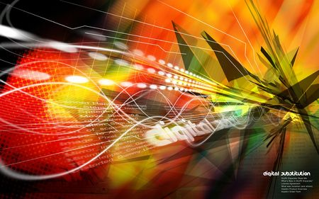 substitution: Digital image of an abstract explosion