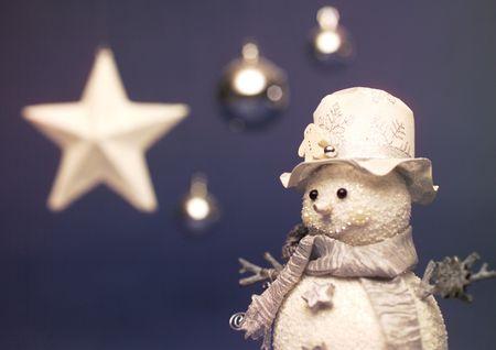 stock vista: Close-up of a snowman decoration Stock Photo