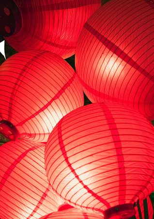 Close-up of Chinese lanterns Stock Photo - 2240708