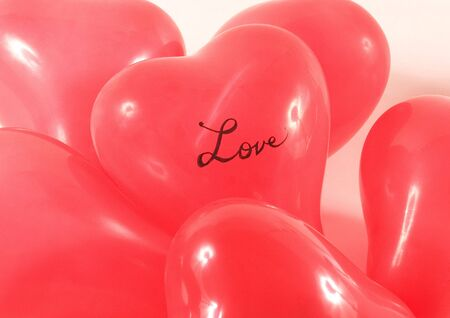 stock vista: Close-up of heart shaped balloons