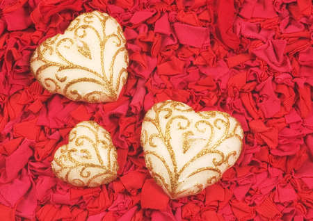 stock vista: Close-up of decorated white candy hearts Stock Photo