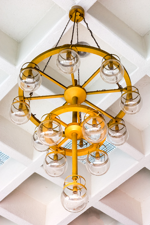 kitchen remodelling: Closeup view of contemporary light fixture