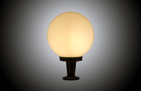 lamp light: Round warm light lamp Stock Photo