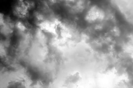 strom: black and white clouds : smoke on sky