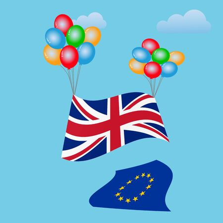 remain: Festive balloons background with United Kingdom Flag. Brexit. Brexit UK. UK Referendum. UK Leave EU.  Great Britain.