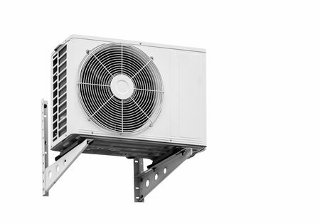Air conditioning compressor. Isolated on white background with copy space