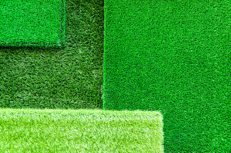 The use of artificial grass for home decoration photo