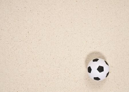 Football on sand paper Stock Photo