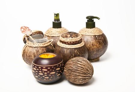 Producto de dise�o de c�scara de coco  Foto de archivo - 7858984