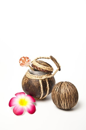 Coconut shell pot open up
