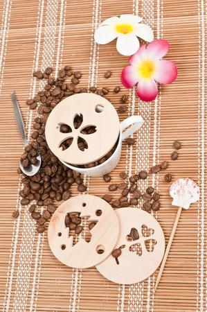 Coffee stencil template