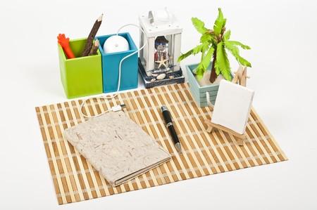 My home desk Stock Photo