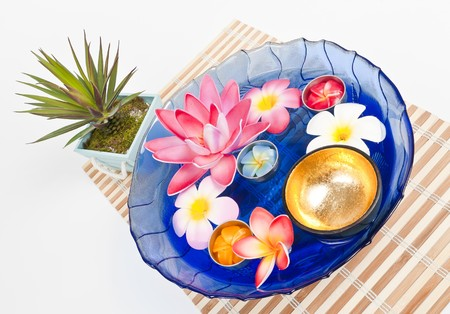 Fresh water with golden bowl