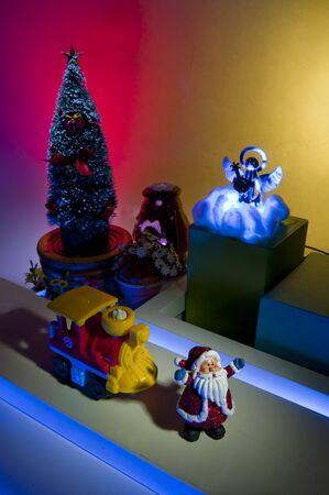 weave ball: Santa on the street at night