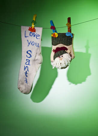 old sock and new glove Stock Photo - 8259099