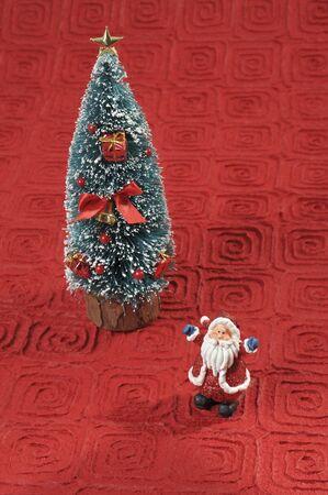 Santa and Christmas tree  photo