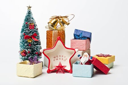 Santa in the gift box  Stock Photo - 8385403
