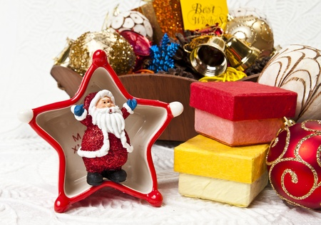 Santa in the star cup Stock Photo - 8385414