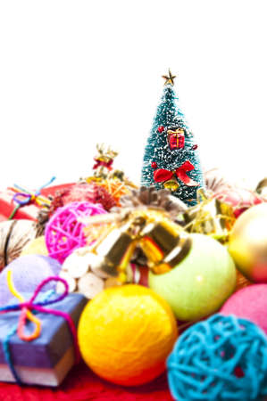 Focus on Christmas tree isolated with white background Stock Photo - 8385410