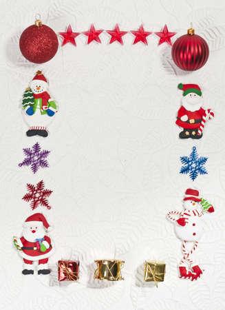 Santa and Snowman Photo frame Stock Photo - 8457130