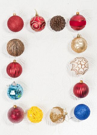 Christmas ball photo frame Stock Photo - 8457131