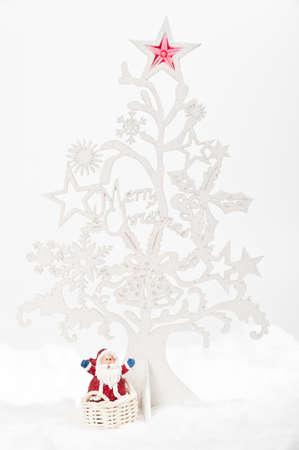 Christmas tree wiht Santa Stock Photo - 8457127