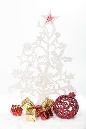 White Christmas tree with gifts Stock Photo - 8457128
