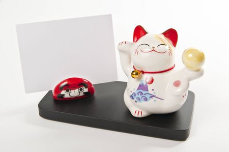 Smiling cat card holder