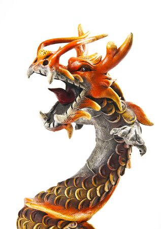 japanese dragon: Close up half body of dragon Stock Photo