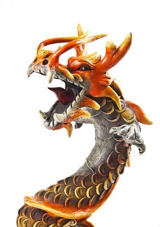 Close up half body of dragon Stock Photo