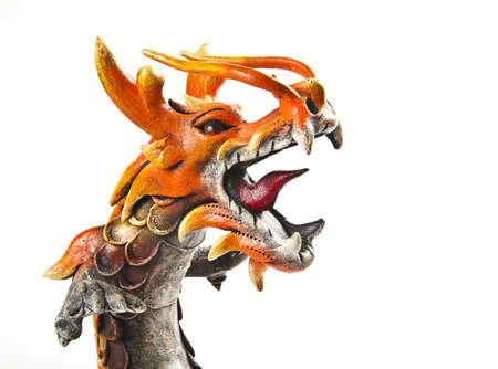 Close up head of orange dragon Stock Photo