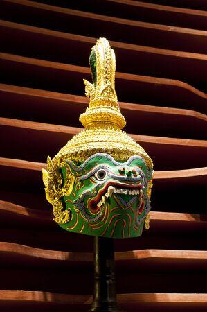 thai dance: Actors Mask of Thai dance