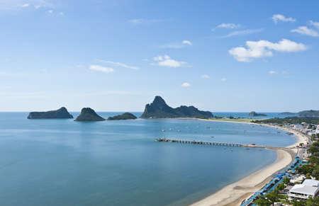 Long curve beach in Thailand