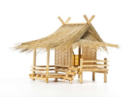 old style Thai house model