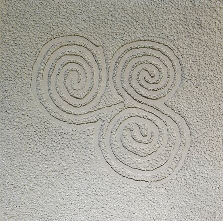 Blanco arte espiral de la pared de fondo