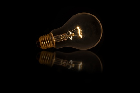 Light bulb with dim lighting without wired Stock Photo - 19835414