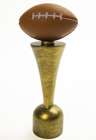 American football trophy isolated on white background Stock Photo - 20366266