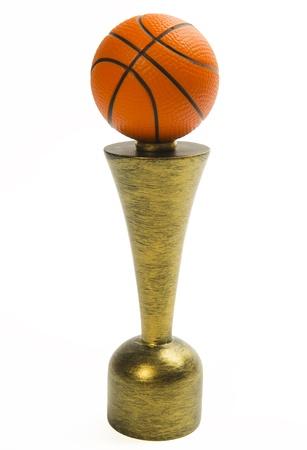 Basketball trophy isolated on white background Stock Photo - 20366265